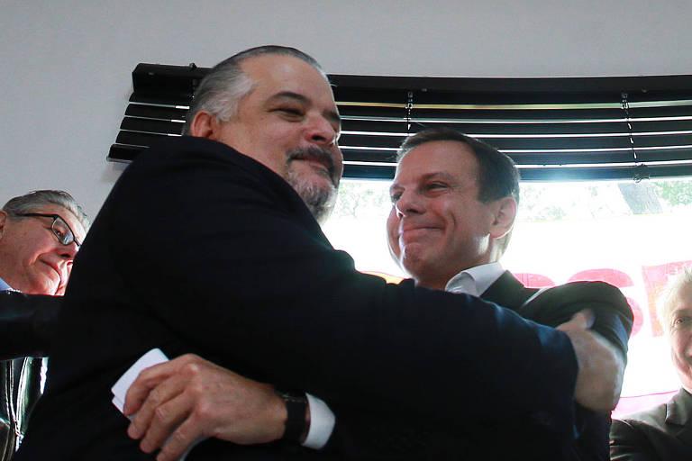 Márcio França e João Doria, antes da campanha eleitoral de 2016