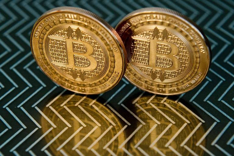 Imagem mostra bitcoin