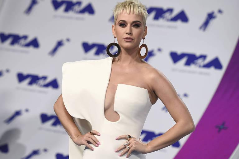 Katy Perry chega ao MTV Video Music Awards em Inglewood, na Califórnia, em agosto de 2017