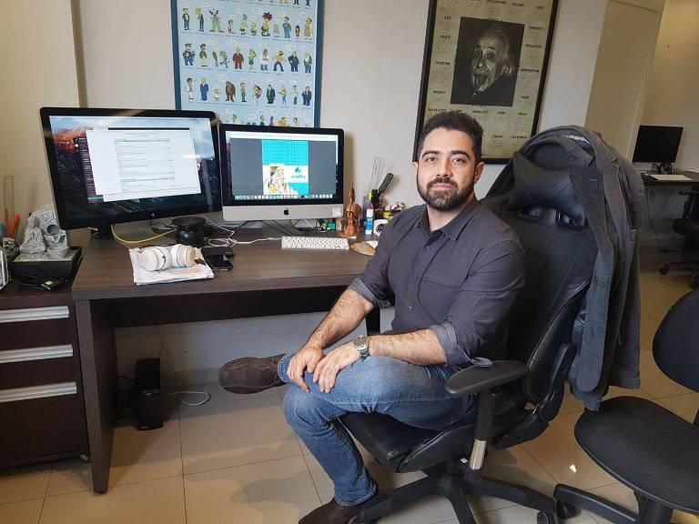 Reinaldo Silva, 34, presidente do Crafty,  Crafty Work, empresa que fará um ICO (oferta inicial de moeda)