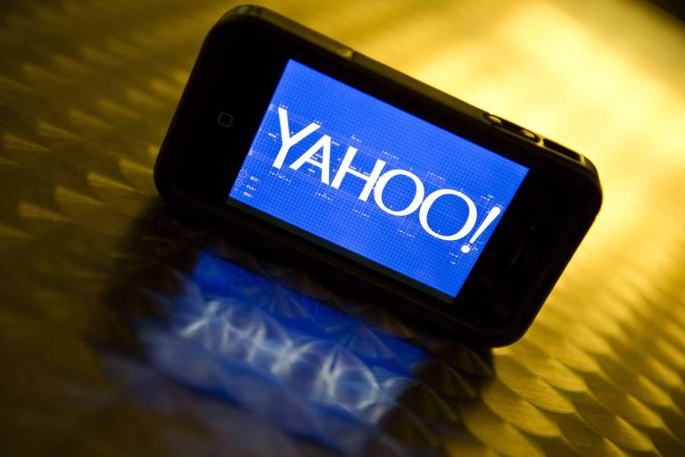 Logo do Yahoo!, cujos usuários tiveram os dados violados