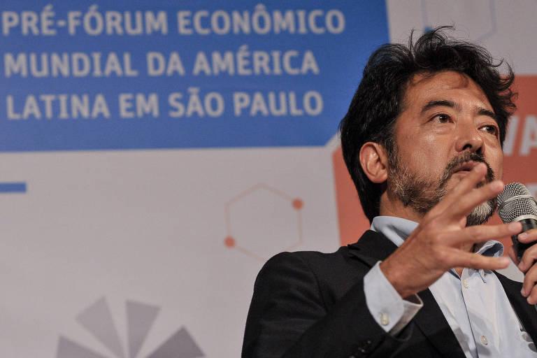"""O secretário da Fazenda do estado de São Paulo, Hélcio Tokeshi, fala em evento """"Inovação Social  Desafios e Novos Modelos"""", realizado pela Folha e pela Fundacao Schwab como parte da agenda do Fórum Econômico Mundial na América Latina"""