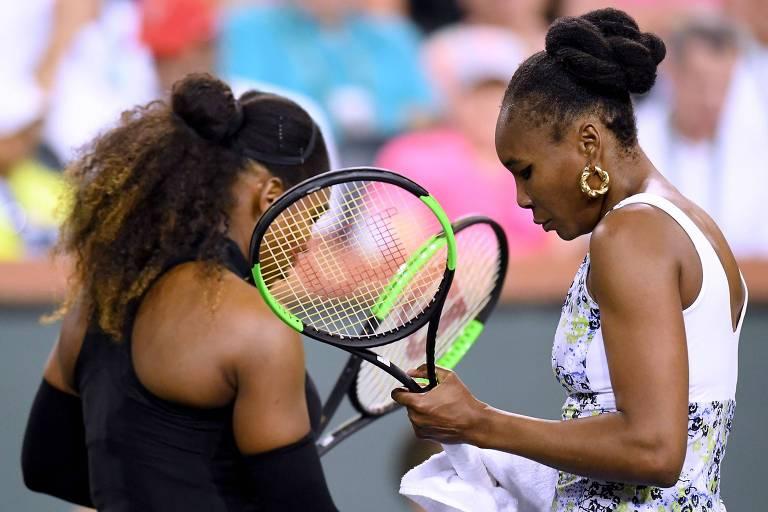 Serena é eliminada pela irmã em 1º torneio após nascimento da filha