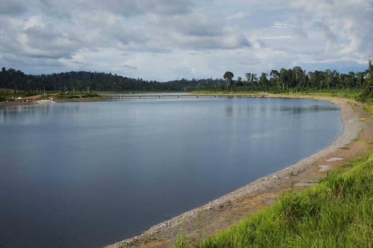 Hidrelétrica de Belo Monte no rio Xingu