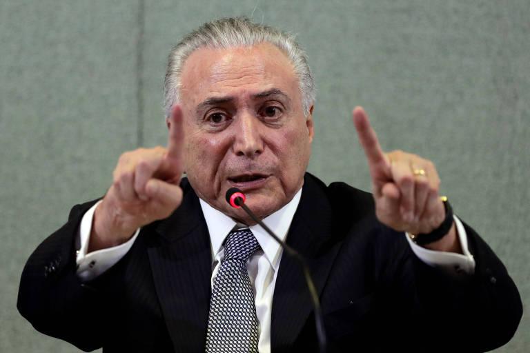 O presidente Temer durante evento em São Paulo