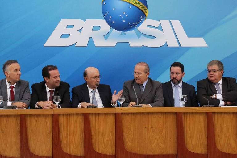 Ministros de Michel Temer se reúnem para anunciar fim da tramitação da reforma da Previdência, em 19 de fevereiro