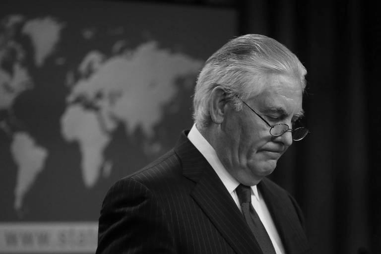 Rex Tillerson após ser demitido por Donald Trump do cargo de secretário de Estado