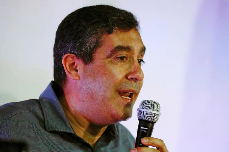 O ex-ministro do Interior e ex-chefe da inteligência de Chávez Miguel Rodríguez Torres em 2017; dissidente chavista foi preso durante comício em Caracas