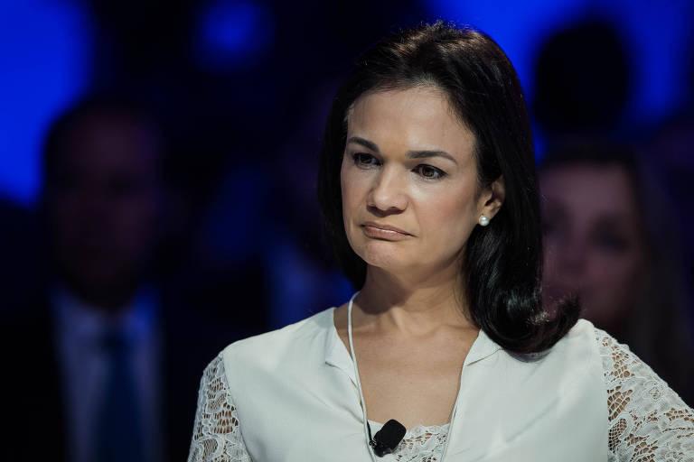 A vice-presidente do Panamá, Isabel de Alvarado, participa do Fórum Econômico Mundial, em São Paulo
