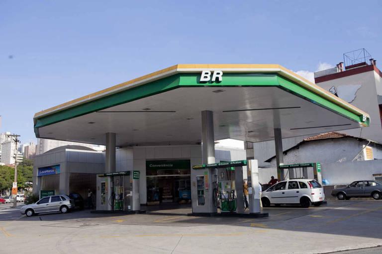 Posto de combustivel da bandeira BR