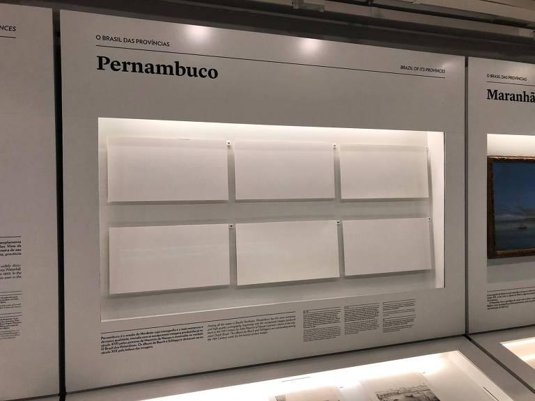 Local onde as gravuras de Emil Bauch eram expostas no Itaú Cultural, agora vazio