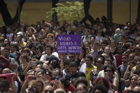 Manifestantes fazem novo ato por MarielleFranco no Rio