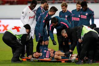 Europa League Round of 16 Second Leg - Lokomotiv Moscow vs Atletico Madrid