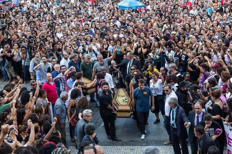 Velório da vereadora Marielle Franco, morta a tiros no Rio de Janeiro