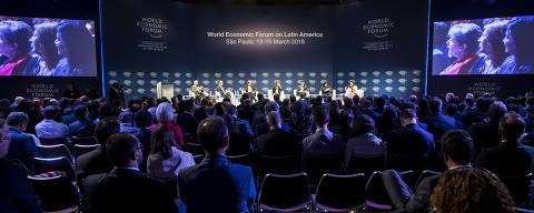 SÃO PAULO - SP - BRASIL, 15-03-2018, 10h00: FORUM ECONÔMICO MUNDIAL.  2o dia do Fórum Econômico Mundial, realizado no Hotel Hyatt.