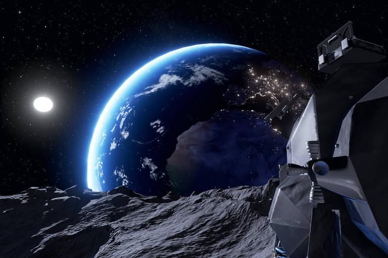 Cenário do jogo 'Mission One', da Virtual Room, sala de games em realidade virtual