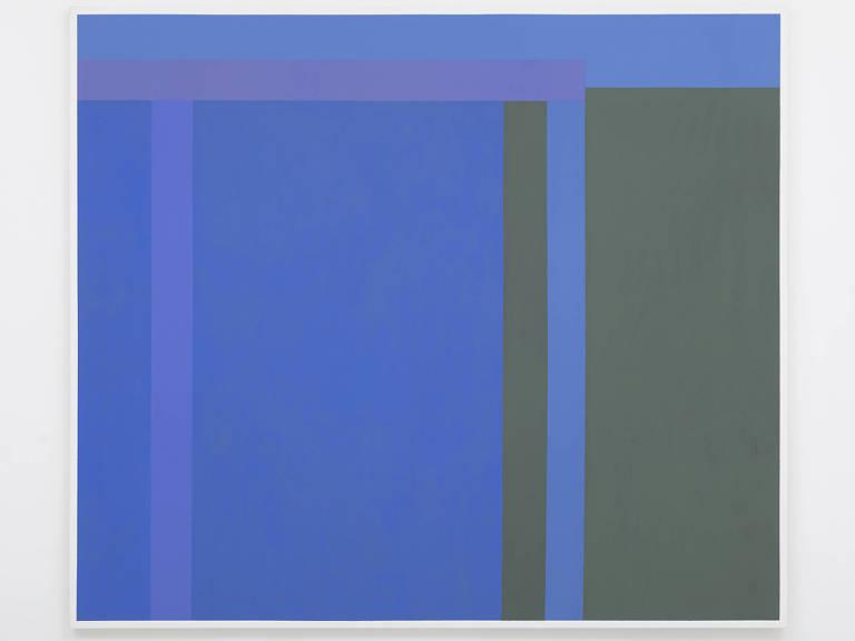 pintura em azul e preto