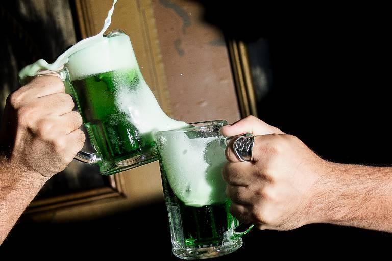 Bar The Sailor promove festa para celebrar o Dia de São Patrício com chope verde e shows