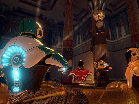 Cena do jogo 'Mission One', da Virtual Room, rede de jogos de imersão em realidade virtual