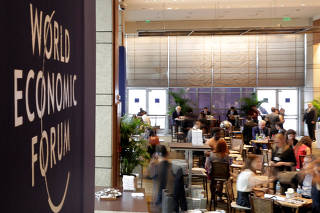 Participants attend the World Economic Forum on Latin America in Sao Paulo