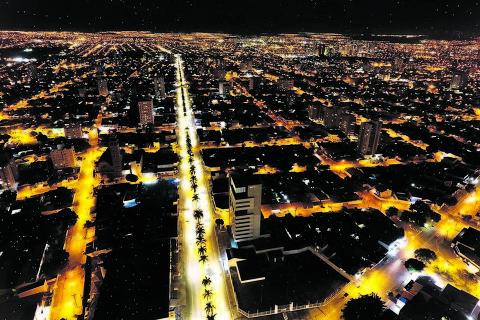 Vista aérea da cidade de Goiânia