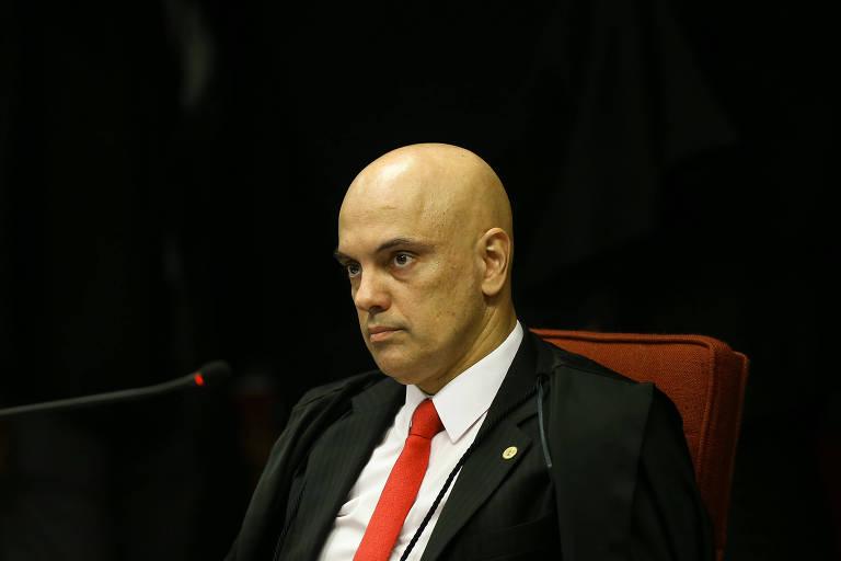 O ministro Alexandre de Moraes em reunião da 1ª Turma do Supremo Tribunal Federal