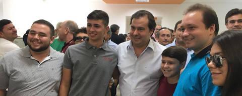 O presidente da Câmara dos Deputados, Rodrigo Maia (DEM) em visita a Catolé do Rocha em  João Pessoa.  Foto:
