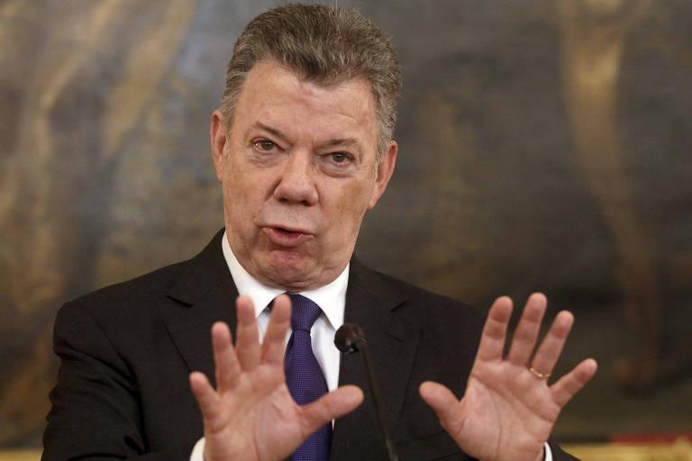 O presidente colombiano Juan Manuel Santos
