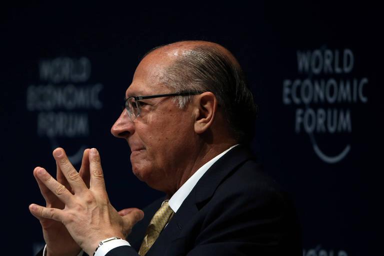 O ex-governador de São Paulo Geraldo Alckmin durante evento no Fórum Econômico Mundial
