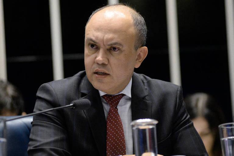 O presidente da ADPF (Associação Nacional de Delegados de Polícia Federal, Edvandir Paiva, em audiência no Senado, em 16 março de 2018