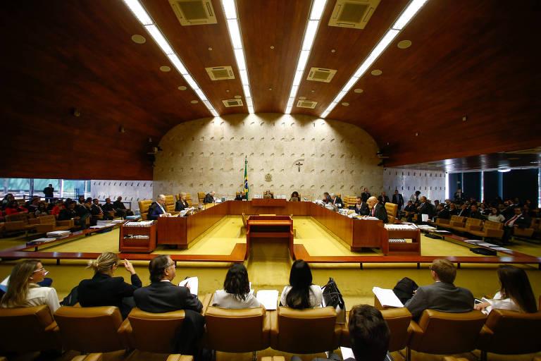 Plano aberto mostra sessão plenária do STF (Supremo Tribunal Federal), sob a presidência da ministra Cármen Lucia, em agosto de 2017