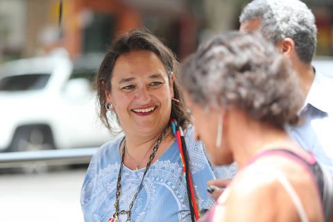 São Paulo SP Brasil 09 03 2018 ESPECIAL , Eliana Toscano, que se dedica à área social há mais de 20 anos e, hoje, desenvolve, sozinha, projetos socio educativos na cracolândia e região. Ela foi viciada e traficante aos 22 anos. Hoje tem 46 anos. Ela abraça, beija e conversa com os viciados. Ela é chamada carinhosamente de