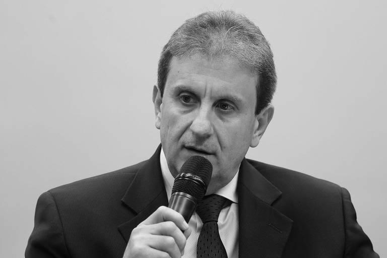 O doleiro Alberto Youssef fala na CPI dos Fundos de Pensão na Câmara dos Deputados em 2015