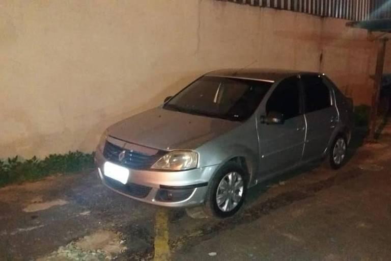Carro apreendido pela Polícia Civil de Minas Gerais em Ubá, na Zona da Mata, suspeito de ser um dos veículos utilizados no assassinato de Marielle