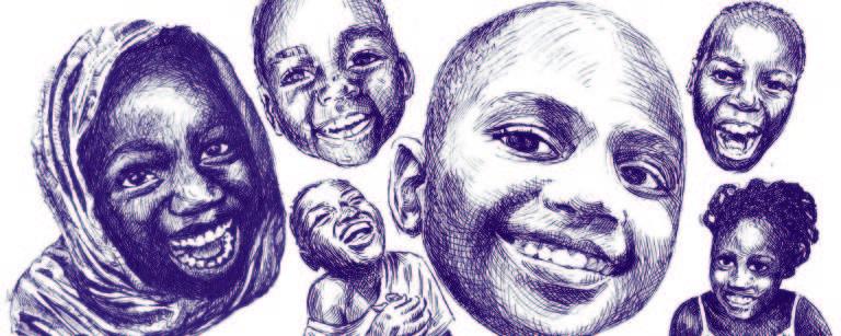 ilustração com vários rostos