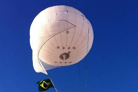 balões cativos, também denominados aerostatos com monitoramento persistente de grandes áreas (AMPGA), adquiridos pelo Governo para os Jogos Olímpicos Rio 2016. Credito Divulgacao DIREITOS RESERVADOS. NÃO PUBLICAR SEM AUTORIZAÇÃO DO DETENTOR DOS DIREITOS AUTORAIS E DE IMAGEM