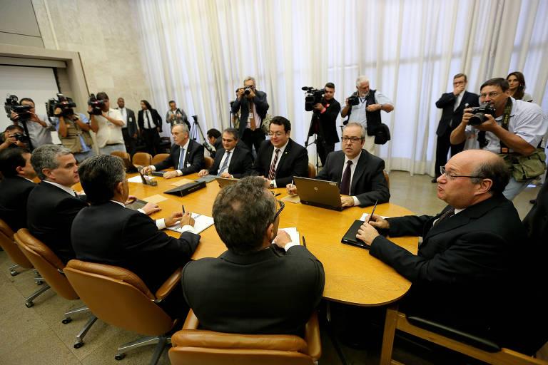O presidente do Banco Central, Ilan Goldfajn, comanda reunião do Copom