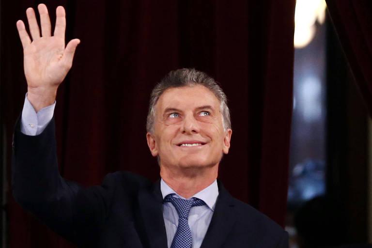 O presidente da Argentina, Mauricio Macria, no Congresso argentino em Buenos Aires