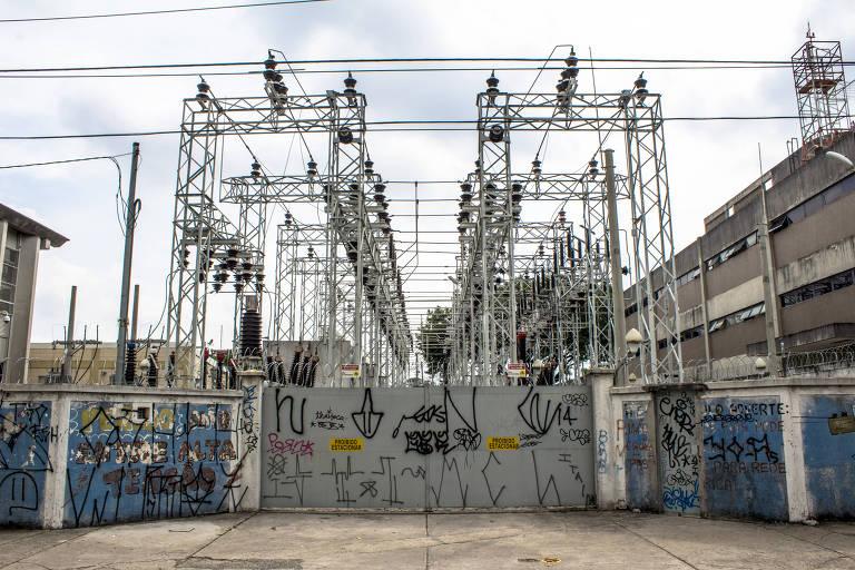 Estação distribuidora e transformadora de energia da AES Eletropaulo