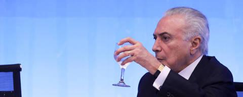 BRASÍLIA, DF, 19.03.2018: O Presidente Michel Temer durante  a Cerimônia de Abertura do VIII Fórum Mundial da Água, no Palácio do Itamaraty, em Brasília.  FOLHA**