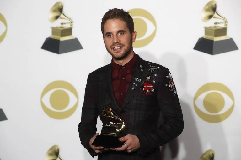 "Ben Platt recebe o Grammy pelo melhor álbum de musical de teatro com ""Dear Evan Hansen"""