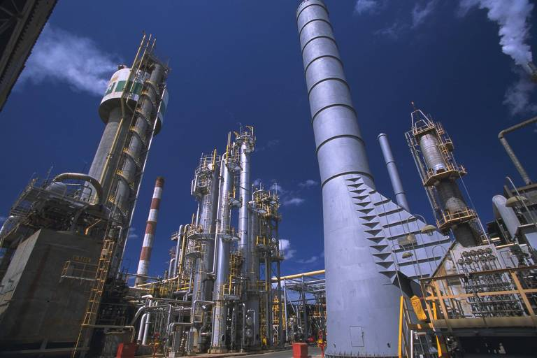 Uma das fábricas de fertilizantes da Petrobras, que não está à venda, em Camaçaris na Bahia