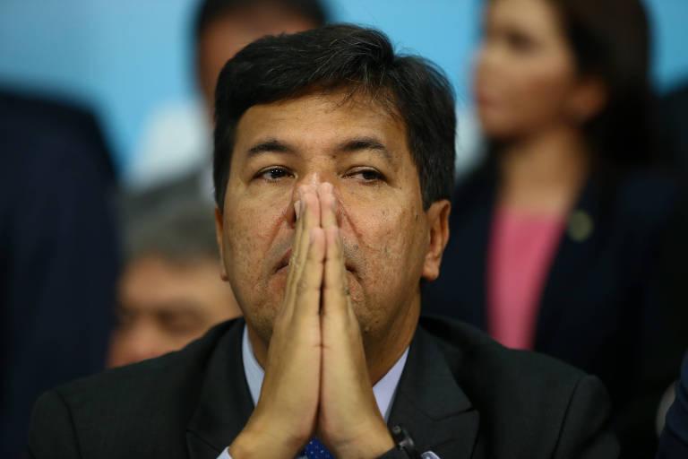 O ministro da Educação, Mendonça Filho, durante convenção do DEM
