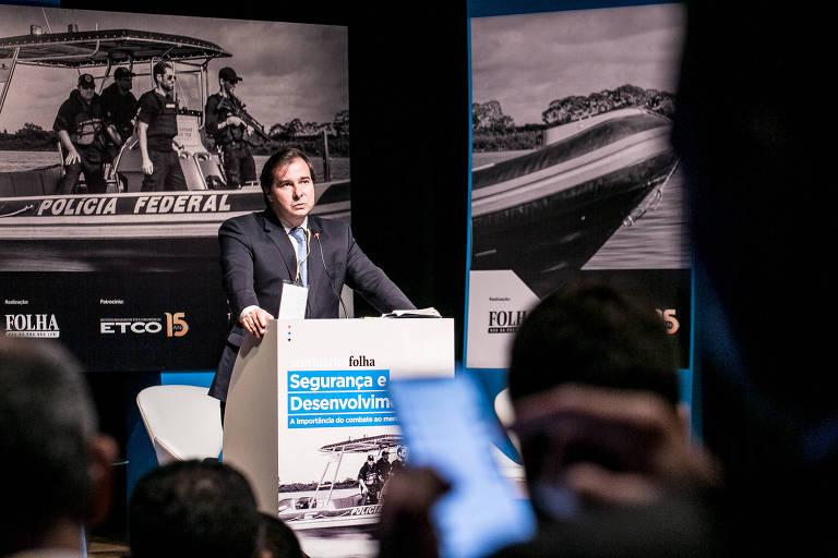 Orçamento baixoemperra combate ao contrabando, afirma Rodrigo Maia