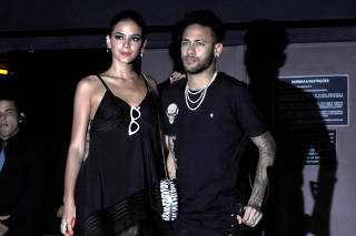 Neymar arrives at a nightclub to attend his sister's birthday party in Sao Paulo