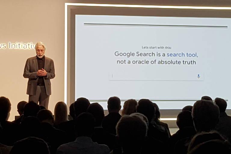 Na foto,  Richard Gingras, vice-presidente do Google