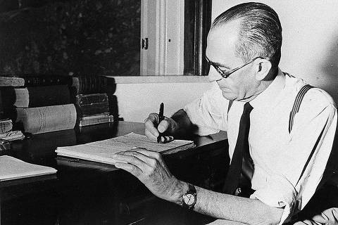 Literatura brasileira: O escritor Graciliano Ramos (1892-1953). (Foto: Reprodução)  *** DIREITOS RESERVADOS. NÃO PUBLICAR SEM AUTORIZAÇÃO DO DETENTOR DOS DIREITOS AUTORAIS E DE IMAGEM ***