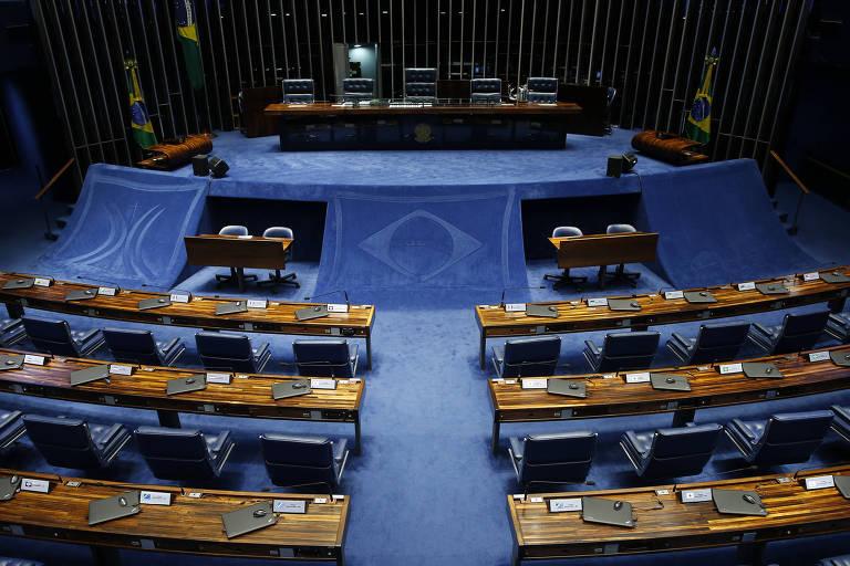 Plenário do Senado Federal vazio.