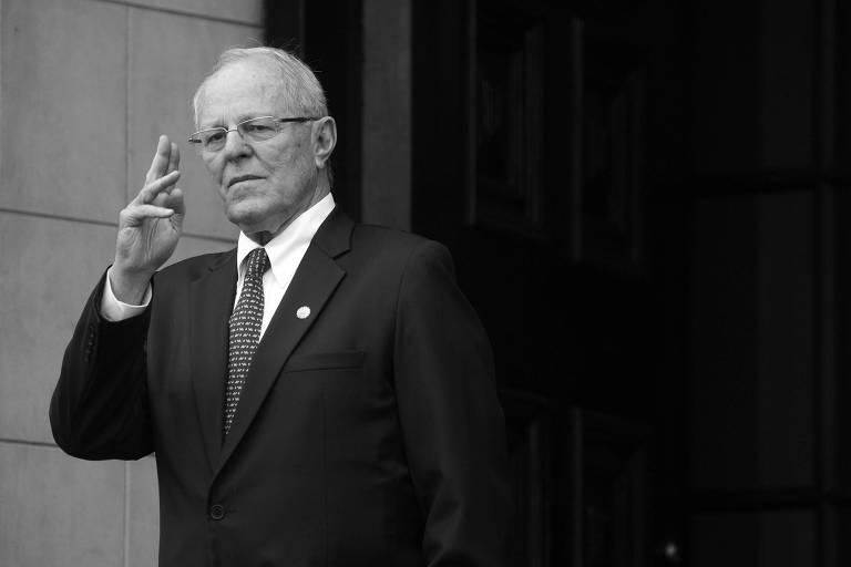Pedro Pablo Kuczynski, em Lima, no Peru; presidente apresentou sua renúncia ao cargo