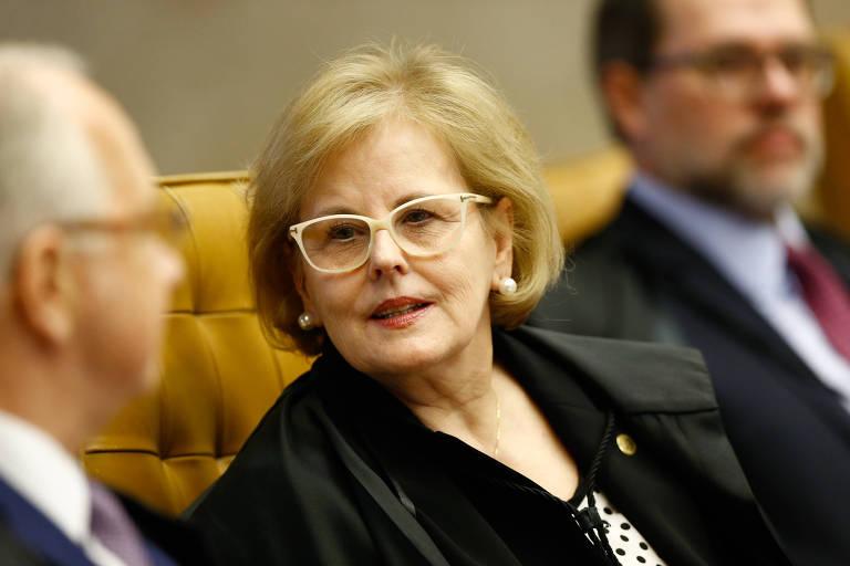 A ministra do STF Rosa Weber, que terá voto crucial em discussão sobre habeas corpus de Lula, em sessão plenária em setembro de 2017